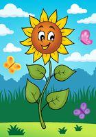 Happy sunflower theme image 2