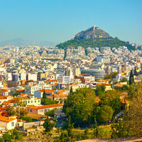 Athens with Mount Lycabettus