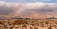 Storm Clouds Rainbow Owens Valley Sierra Nevada Mountain Range California