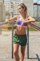 A young beauty athletic woman