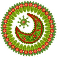Christmas round wreath from Holly