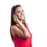 Talking at cellphone
