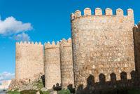 Die mittelalterliche Stadtmauer von Avila