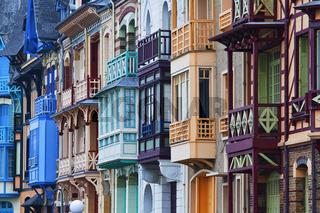 Jugendstilfassade, Mers les Bains, Picardie, France