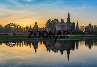 sunrise at Sukothai Historical Park - Thailand