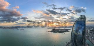 Xiamen Shimao Strait Building Petronas Twin Towers Scene