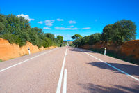 Spanish country road. Diminishing perspective
