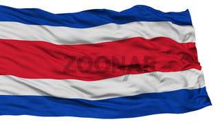 Isolated Costa Rica Flag