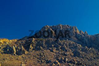 Ghost valley landscape and Demirji mountain Crimea