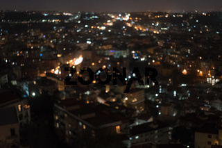 City night from top view.