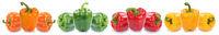 Paprika Paprikas bunt Gemüse Lebensmittel Freisteller freigestellt isoliert