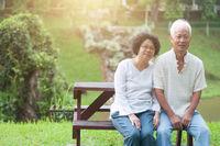Senior Asian couple portrait.