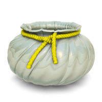 One ceramic Flower Pot with yellow lasher