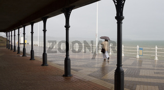 Bridlington promenade in the rain