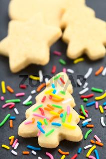 Homemade Sprinkled Sugar Cookie for Christmas