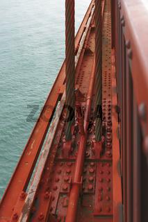 detail of the famous Golden Gate Bridge