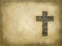 christliches kreuz auf grunge hintergrund - illustration