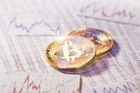 Unbeständiger Kurs der Kryptowährung Bitcoin