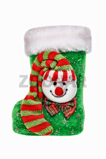Christmas. Boot of St. Nicholas izolated on white