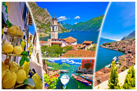 Limone sul Garda collage tourist destination postcard