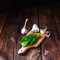 fresh and tasty wild garlic