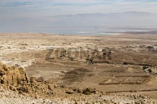 Blick von Masada, Israel, View from Masada, Israel
