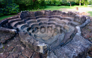 Lotus Pond aka Nelun Vihara at Polonnaruwa ancient city, Sri Lanka