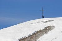 Gipfel der Hochalm im Winter