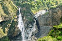 Agoyan Wasserfall Ecuador