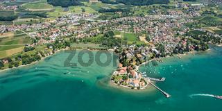 Gemeinde Wasserburg in Bayern am Bodensee mit Hafen