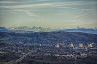 Weil am Rhein mit Alpenpanorama