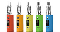 Five multicolored electronic cigarettes
