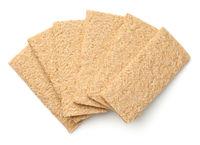 Crisp Bread Graham Isolated on White Background