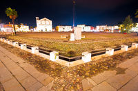 Central square in Italian town of Palmanova evening view