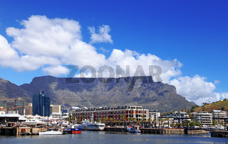 Tafelberg von der Waterfront aus gesehen, Kapstadt, Table Mountain, view from the Waterfront, Cape Town, South Africa