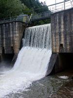 Flusskraftwerk Feistritz, Wasserfall