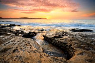 Sunrise Pearl Beach Australia