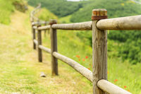 Path and handrail in village Elcito