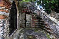 Wooden antique door in Altos de Chavon