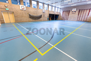 Empty dutch gymnasium for school sports