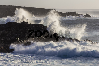 Wellen auf Lanzarote, Kanarische Inseln