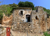 ancient greek house ruin