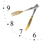 Clock made of fork and knife