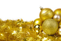 christmas decoration with golden ball