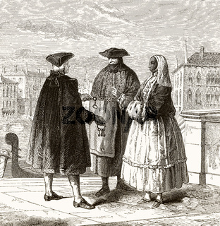 The lessor of the theater lodges in Venice, 18th century