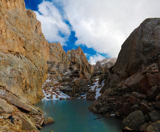 Ised lake in Schalbus-Dag mountain, Dagestan, Caucasus Russia