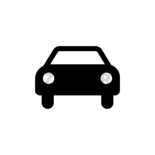 Car icon. Black car sign. Transportation icon