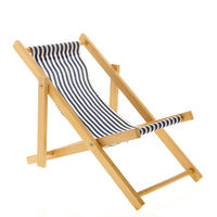 Blue striped beach chair