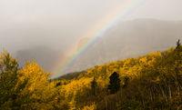Rainbow Fall Color Rocky Mountains Glacier National Park Montana