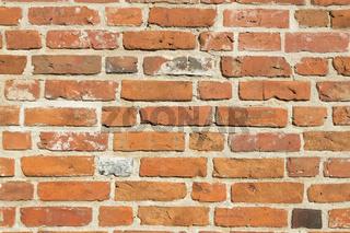 Backsteinmauer als Hintergrund